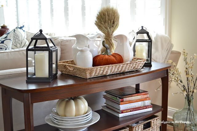 Console Table with Fall Decor
