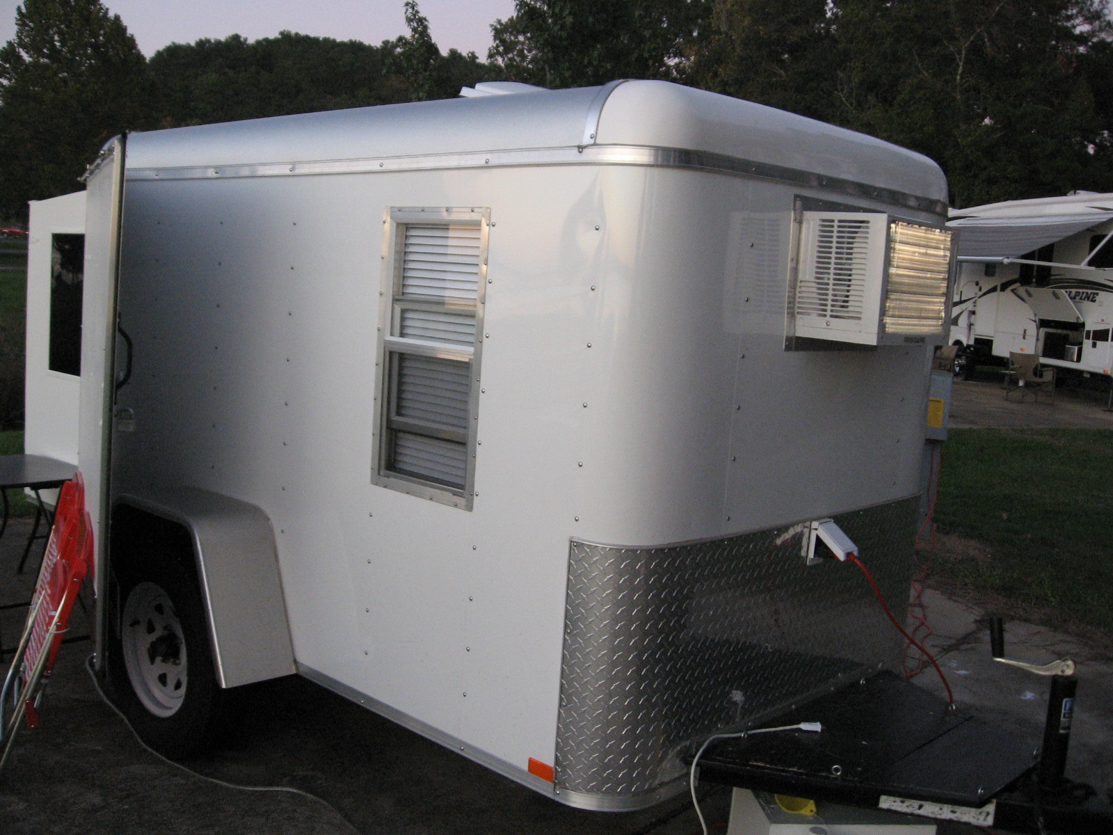 Small Kitchen Trailer Camping