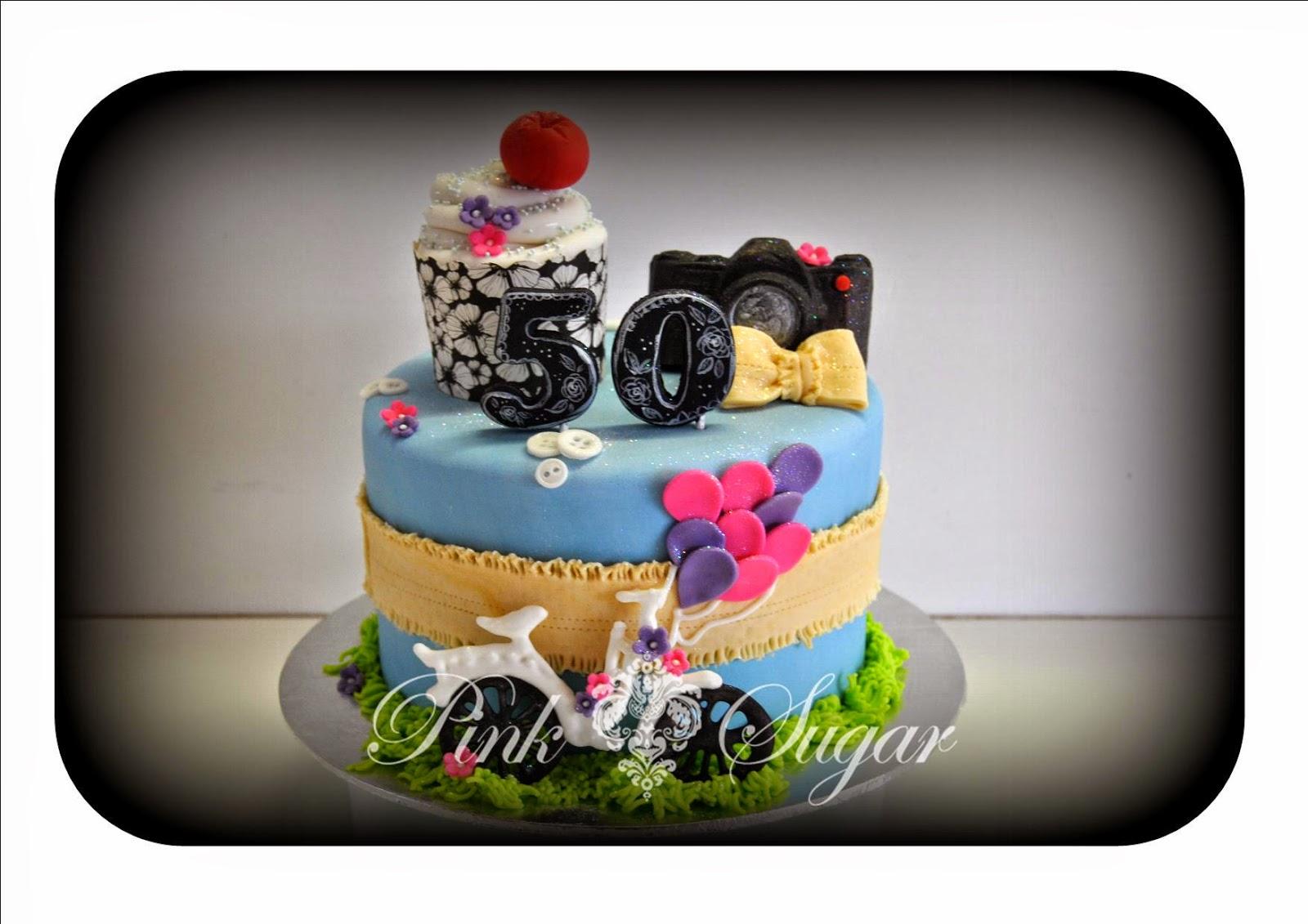 Pink Sugar Shabby Chic Birthday Cake