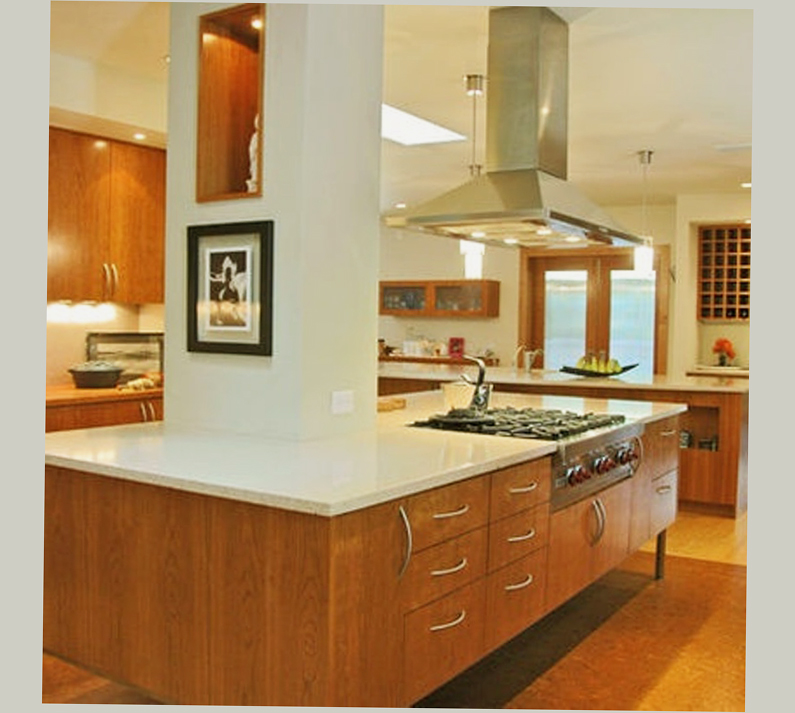 Mid century modern kitchens cabinets ellecrafts for Mid century modern kitchen design