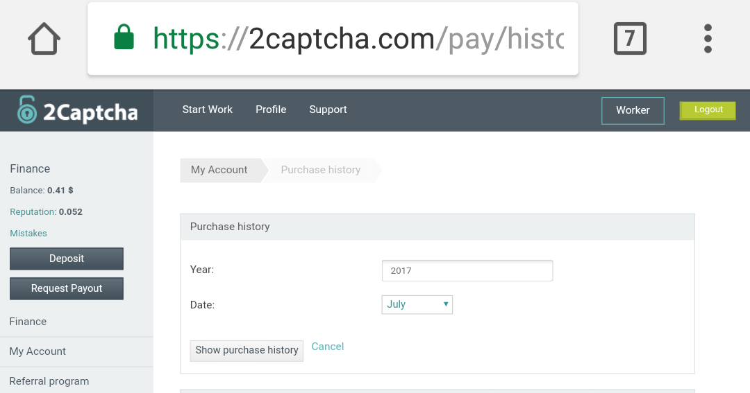 Bitcoin solving captcha