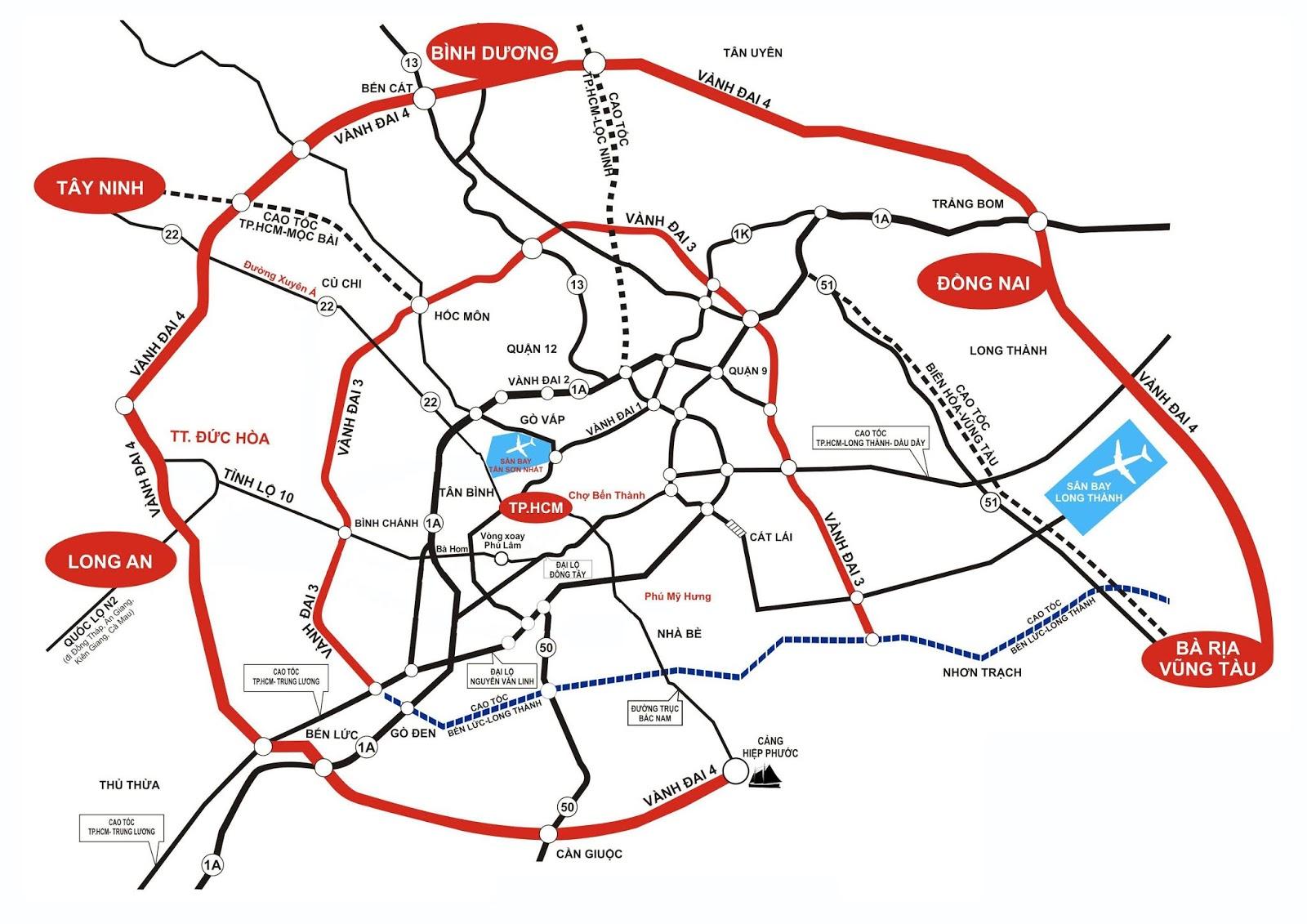 Các tuyến đường Vành đai giảm lưu lượng xe vào nội đô HCM