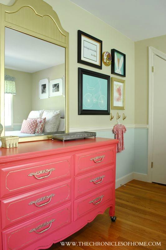 Favorite Paint Colors - pink dresser