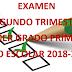 Examen Trimestral  (segundo trimestre) 1° Primaria Ciclo Escolar 2018-2019.