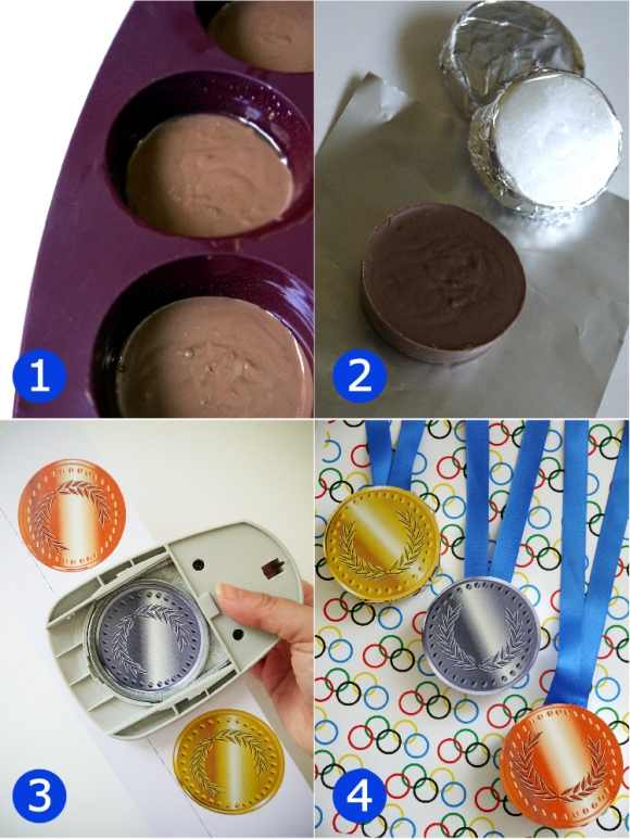 DIY Chocolate Olympic Medals - BirdsParty.com