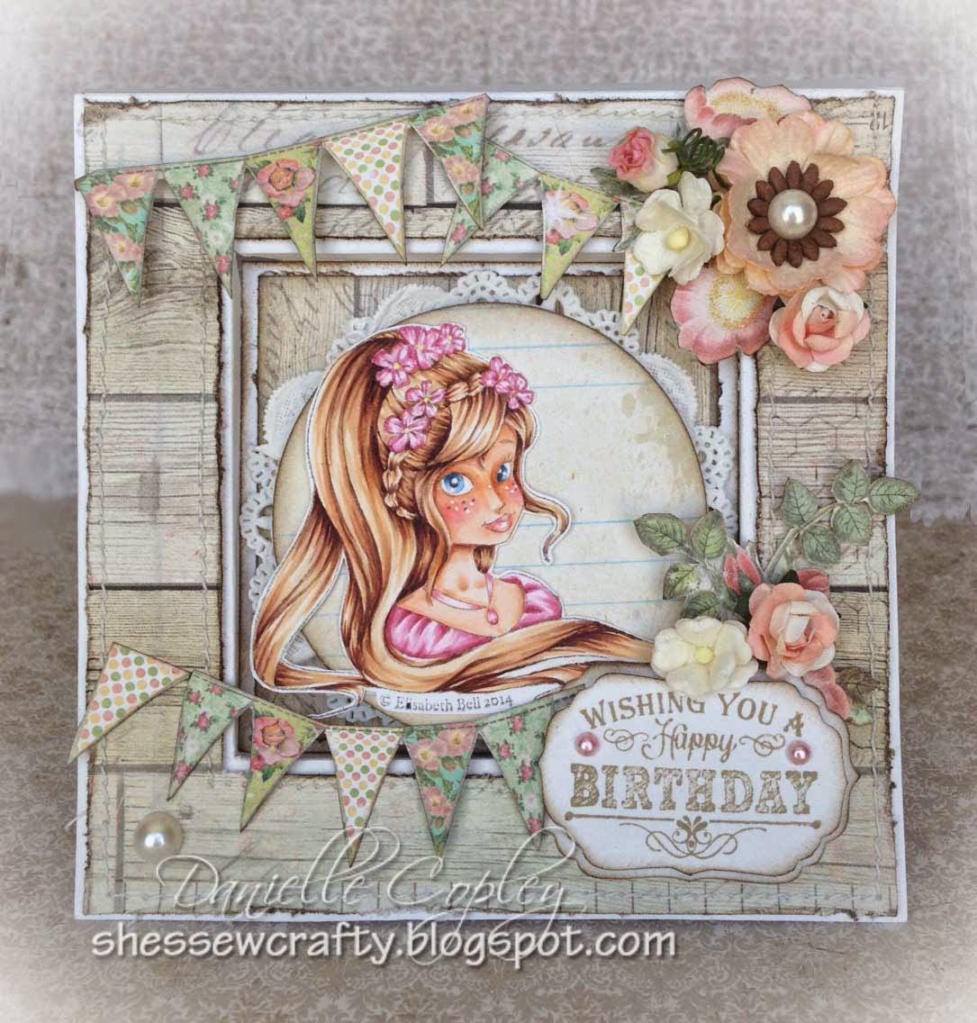 Whimsy's Elizabeth Bell's Miss Chloe Vignette using Prima's Fairy Rhymes paper
