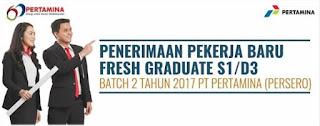 Lowongan Kerja di PT.Pertamina (Persero) untuk Fresh Graduated