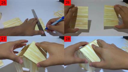 Cara Membuat Rumah dari Stik Es Krim