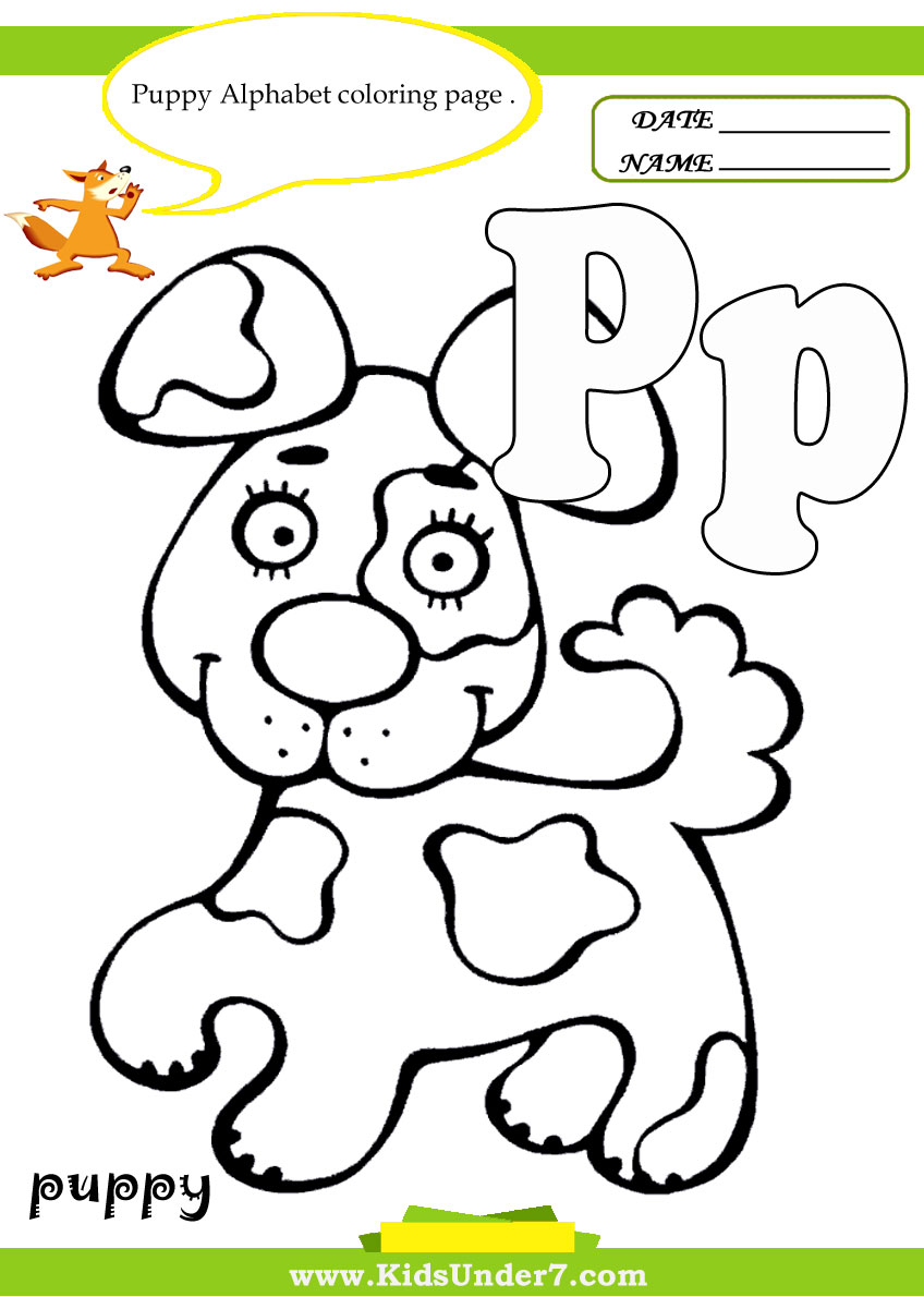 p coloring pages for kids - photo #26