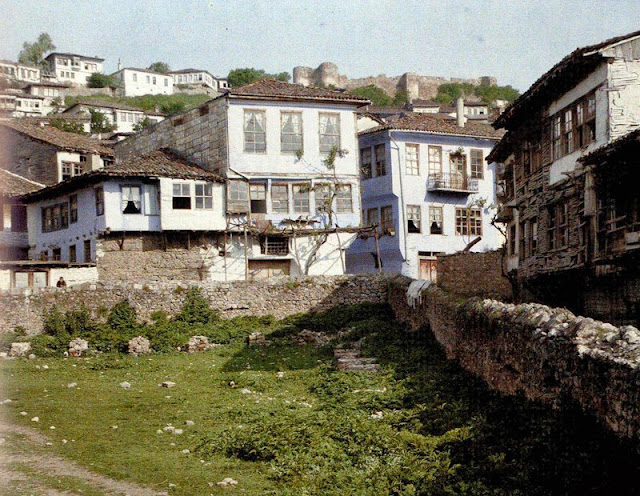 View of Ohrid old town, Macedonia in 1913