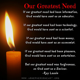 Our Greatest Need