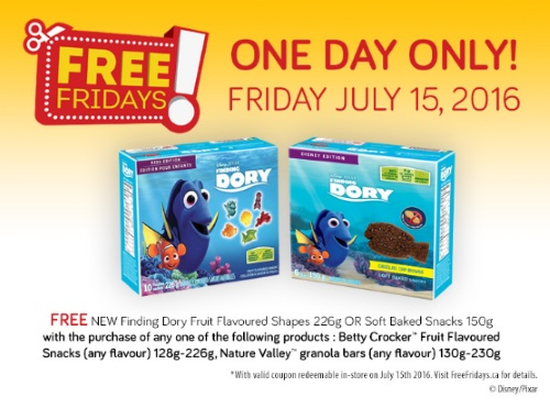 Free Finding Dory Snacks Coupons