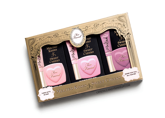 Too Faced Melted Kisses Sweet Cheeks Set Holiday 2015 Review