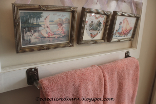 Eclectic Red Barn: Valentine's Day Bathroom Window