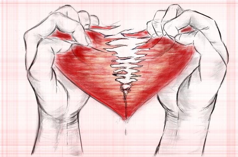 Broken Hearts Poetic Justness Love Life Rh Poeticjustnes Com Heart Sketches Pink