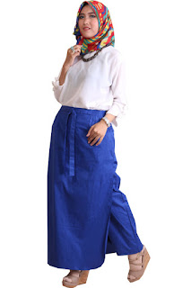Gambar Rok Celana Muslimah Blue Electric
