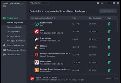تفعيل برنامج IObit Uninstaller 7.1.0.19 Pro