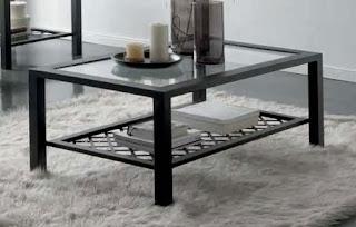 mesa de centro de forja, muebles forja, mesa baja forja