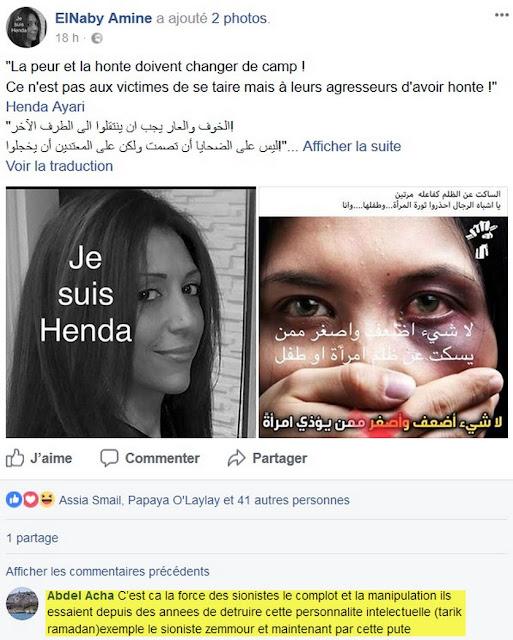 Henda Ayari accusée de participer à un complot juif mondial