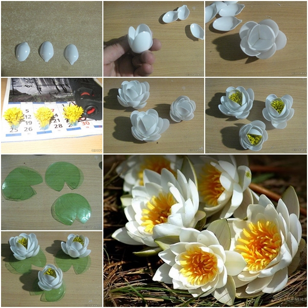 DIY FLOWERS FROM PLASTIC SPOONS
