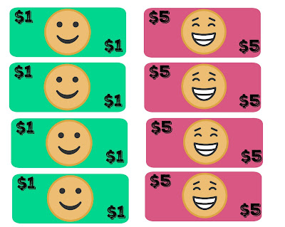 free pretend play emoji money