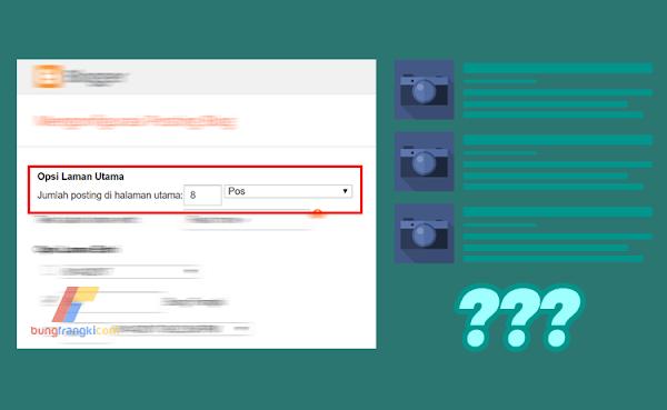 Mengapa Jumlah Postingan di Homepage tidak Sesuai dengan yang telah Disetting?
