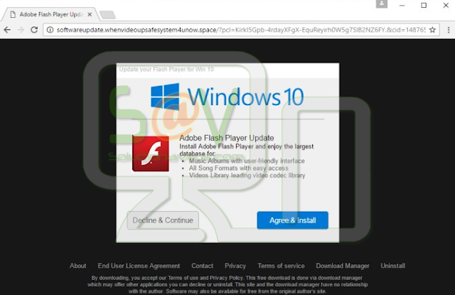 Update your Flash Player for Win 10