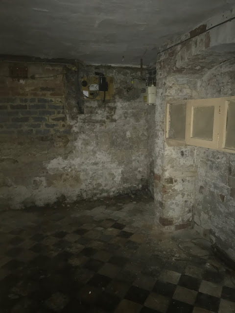 Original Tiles in Victorian Basement