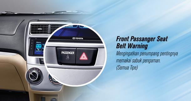 Front Passangger Seat Belt Warning Mengingatkan Penumpang Pentingnya Memakai Sabuk Pengaman
