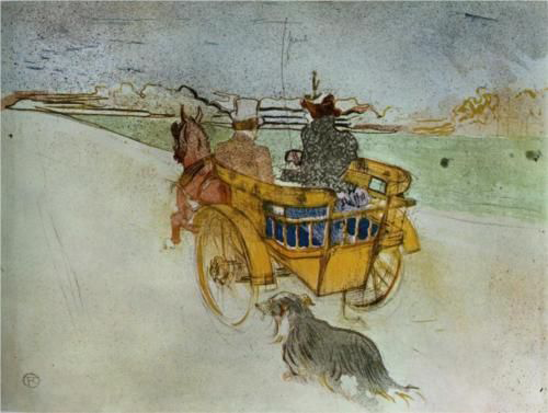 La Charrette Anglaise (The English Dog Cart) by Henri de Toulouse-Lautrec