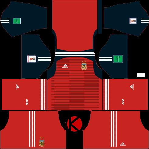 Argentina 2018 World Cup Kit - Dream League Soccer Kits - Kuchalana