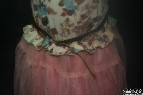 Baby Kids Children's Girls Lovely Short Sleeve Assorted Color Splicing Floral Dress