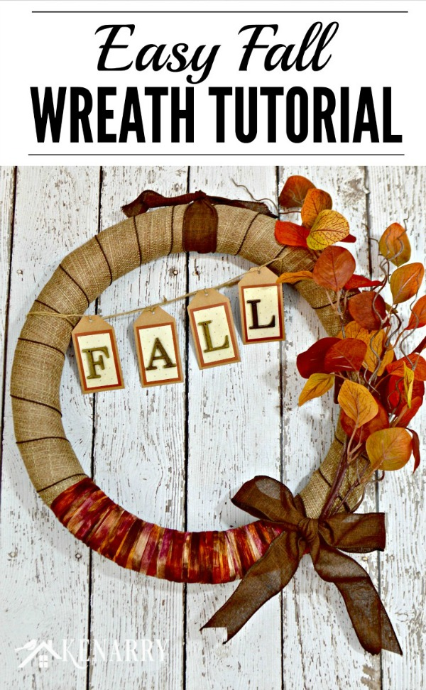 Easy Fall Wreath Tutorial from Kenary.