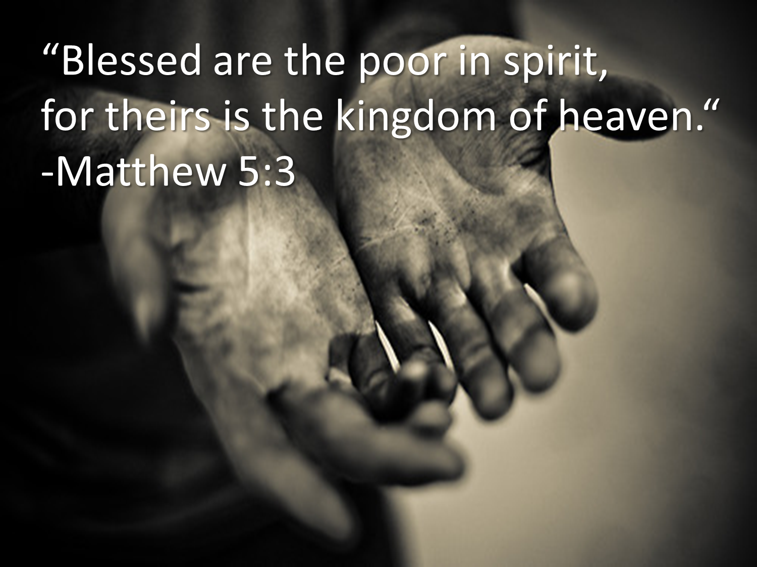 university of santo tomas blessed are the poor in spirit mt   5 3 presents a greater lesson a true revelation to the human mind and heart blessed are the poor in spirit for theirs is the kingdom of heaven