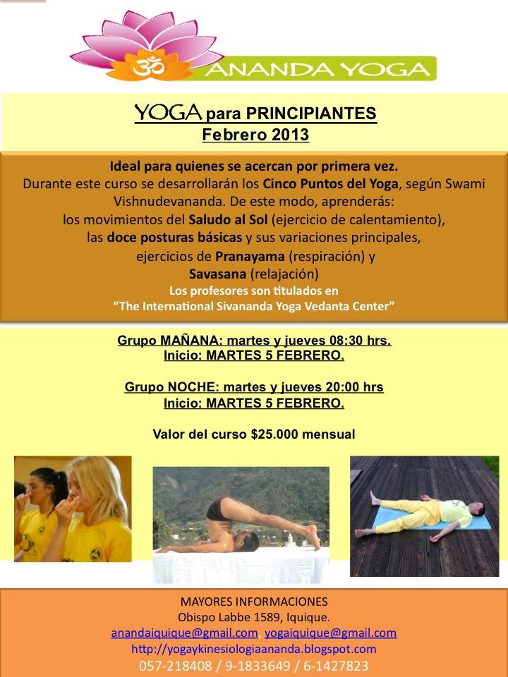 Actividades Ananda Yoga Febrero 2013. Yoga Para Principiantes ... 0d3f36b6111c
