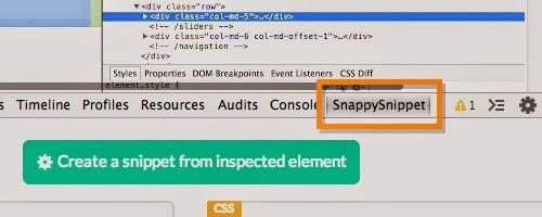 Cara Mudah menggunakan tool extensi SnappySnippet di chrome