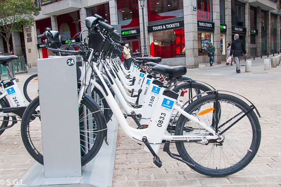 Moverse en bicicleta por Madrid