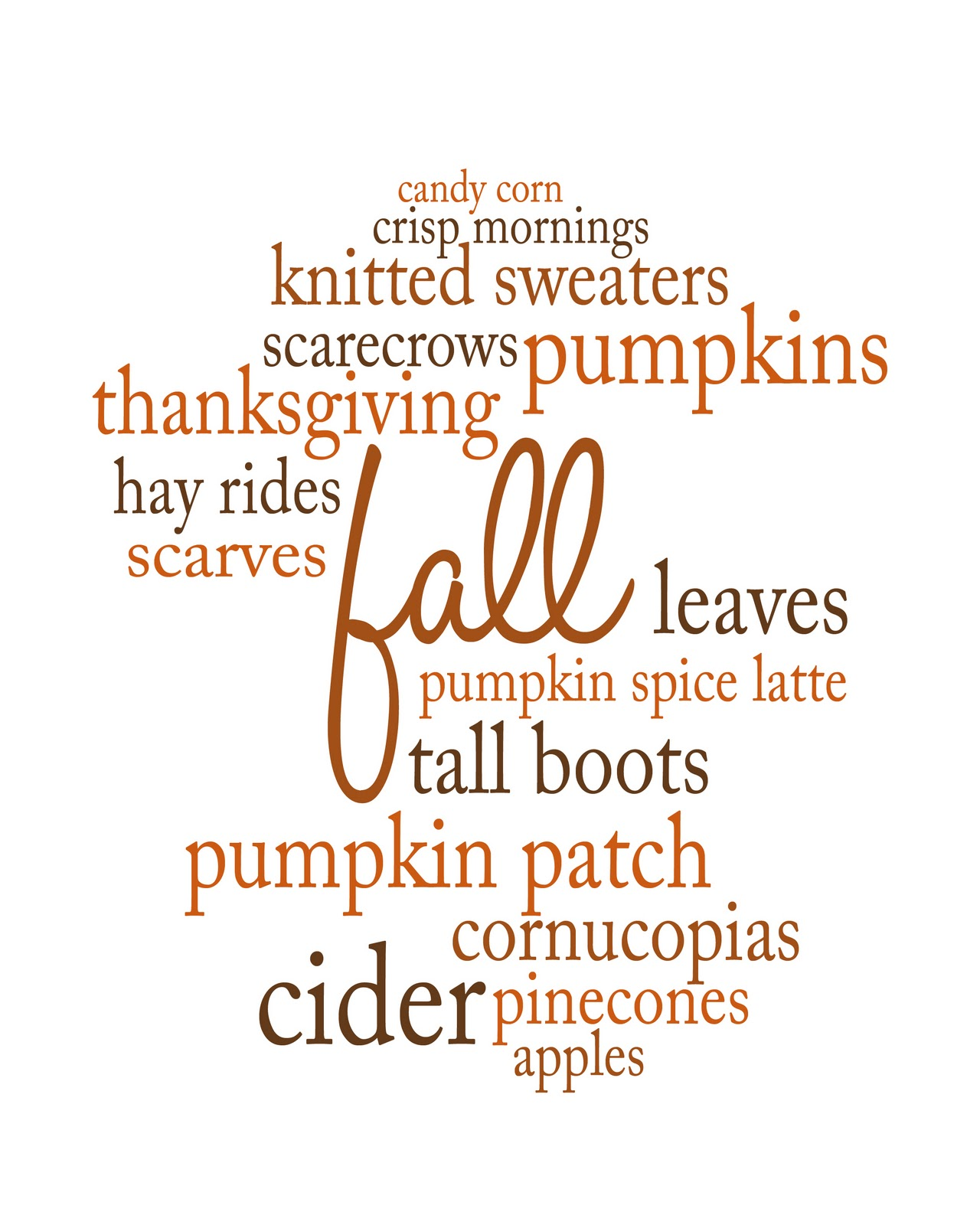 My Favorite Things About Fall A Printable