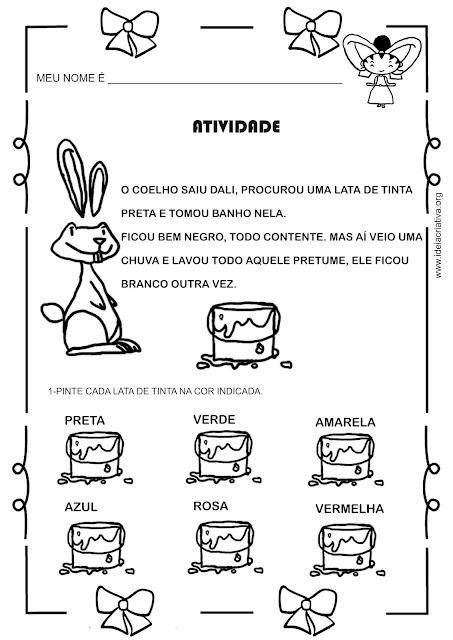 Atividade baseada na animação Menina Bonita do Laço de Fita