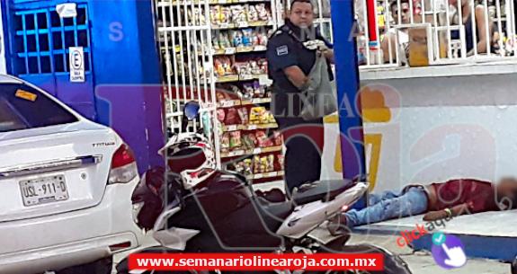 Ejecutan a un hombre en Puerto Aventuras, frente a un expendio de cervezas