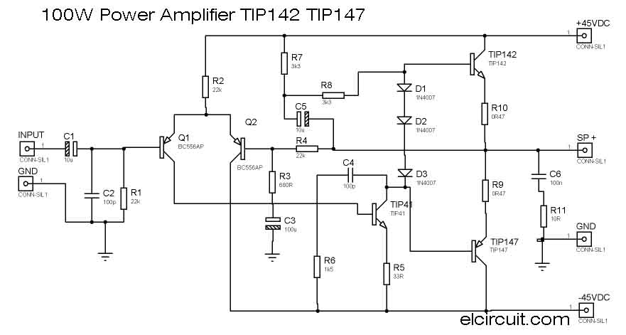 100 w subwoofer circuit diagram wiring diagram