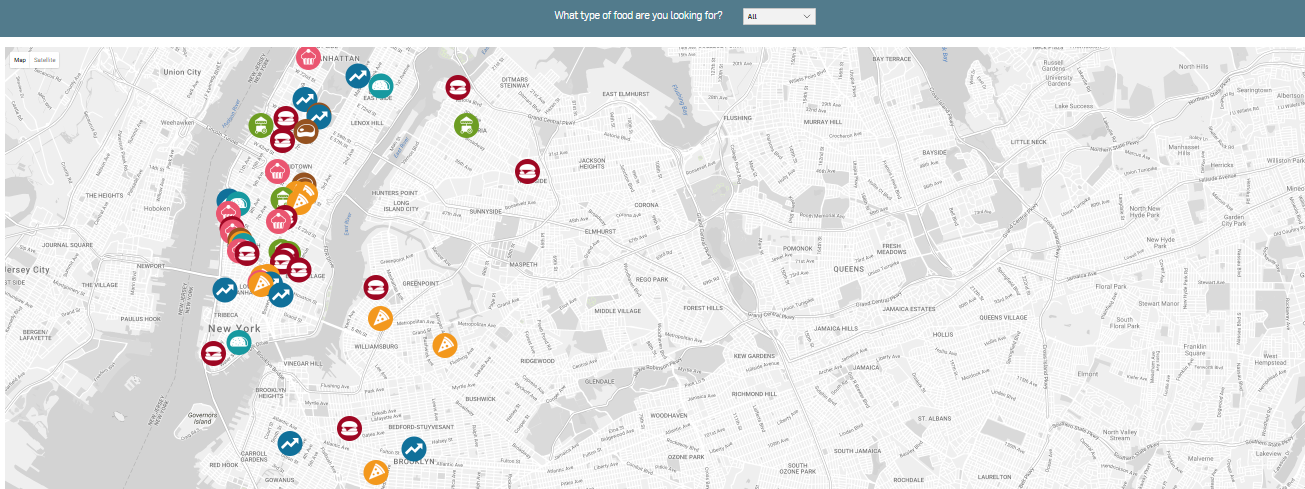 The Taste of New York: An Interactive Map of NYC's Top Foodie Spots