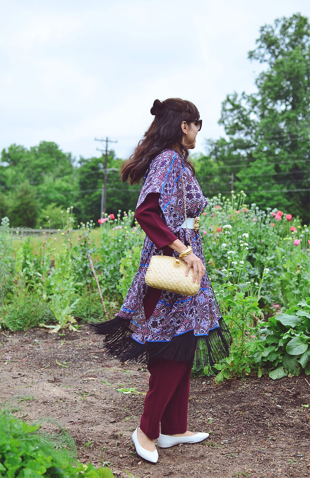 Belted shawl street style