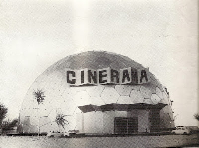 La carpa del Circo de los muchachos, diseñada para un proyecto de cine panoramico