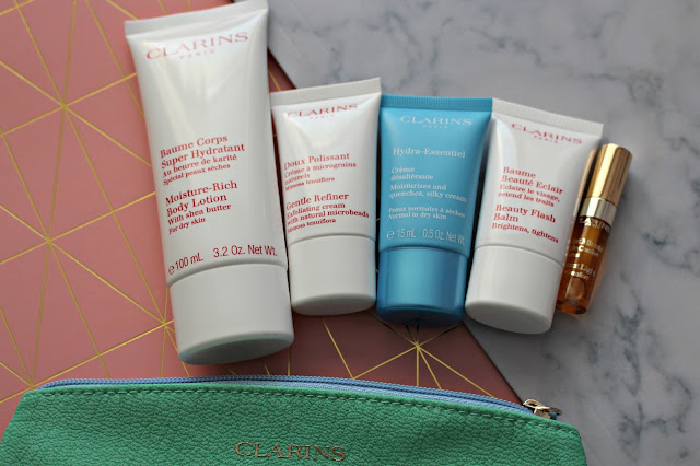 Clarin's skincare free gift