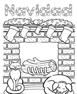 colorear de Chimeneas de navidad