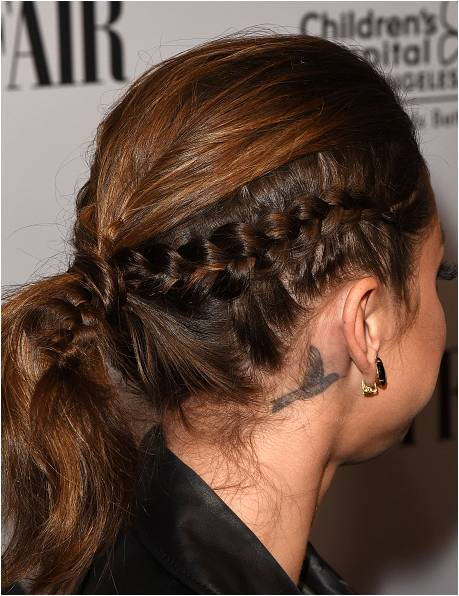 Sarah Hyland Edgy Hair Braid