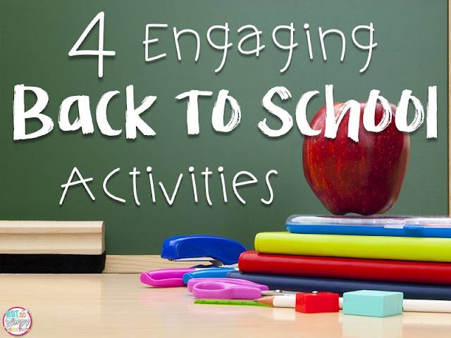 4 Engaging Back to School Activities from Not So Wimpy Teacher