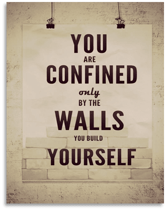 Confined by the walls