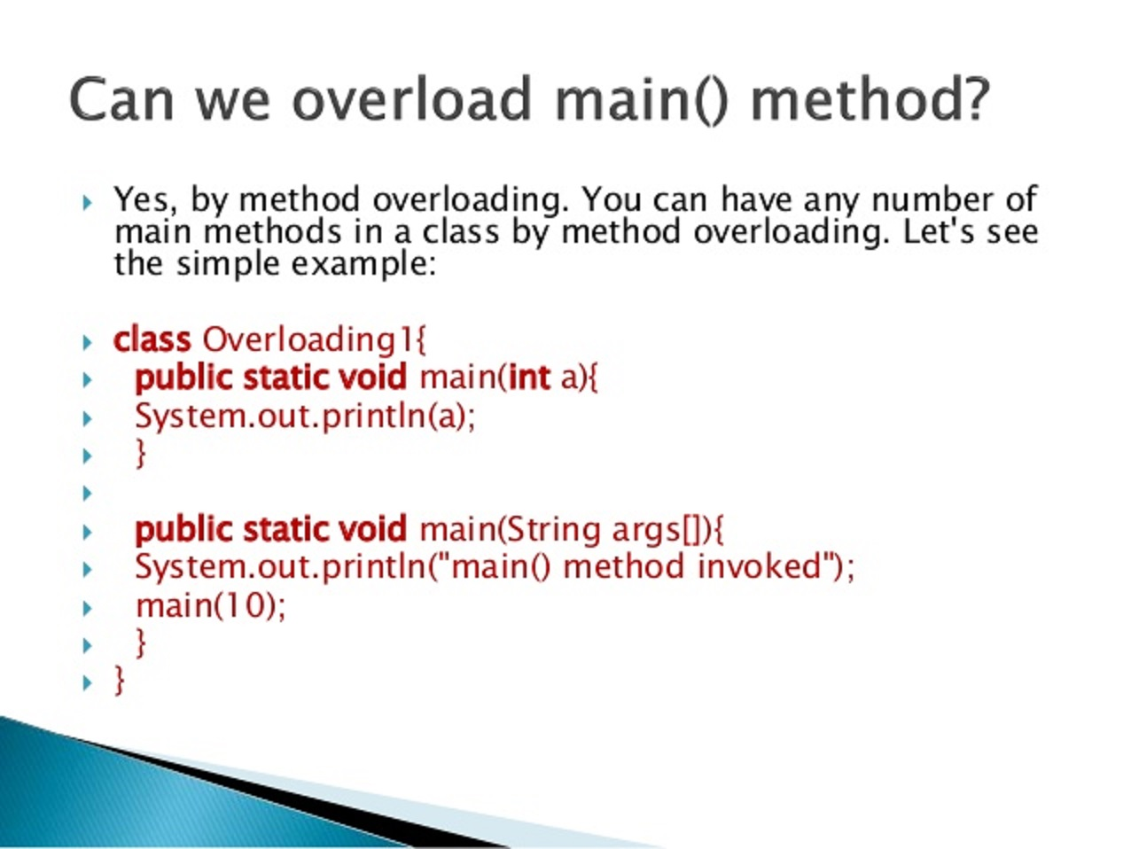 Can you Overload or Override main method in Java? | Java67